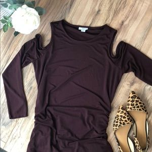 Bar III Cold shoulder dress
